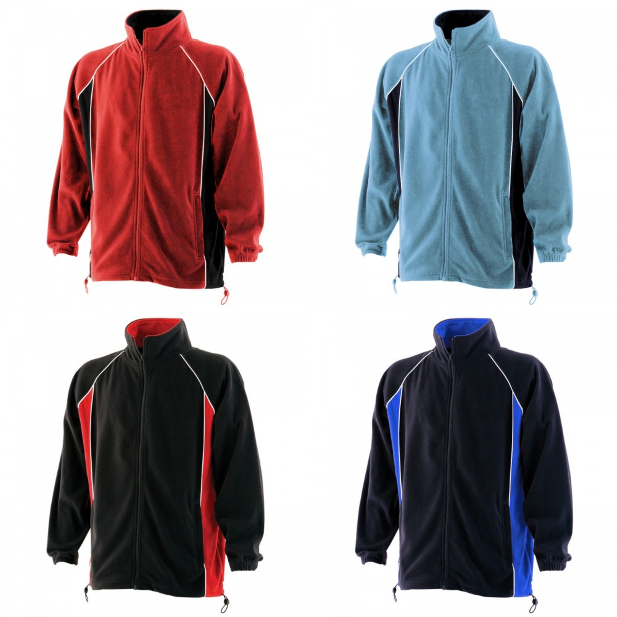 RW434 Details about  /Finden /& Hales Mens Piped Anti-Pill Microfleece Jacket